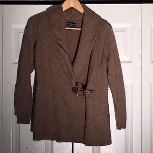 Cynthia Rowley Wrap Sweater w/ Buckle Detail